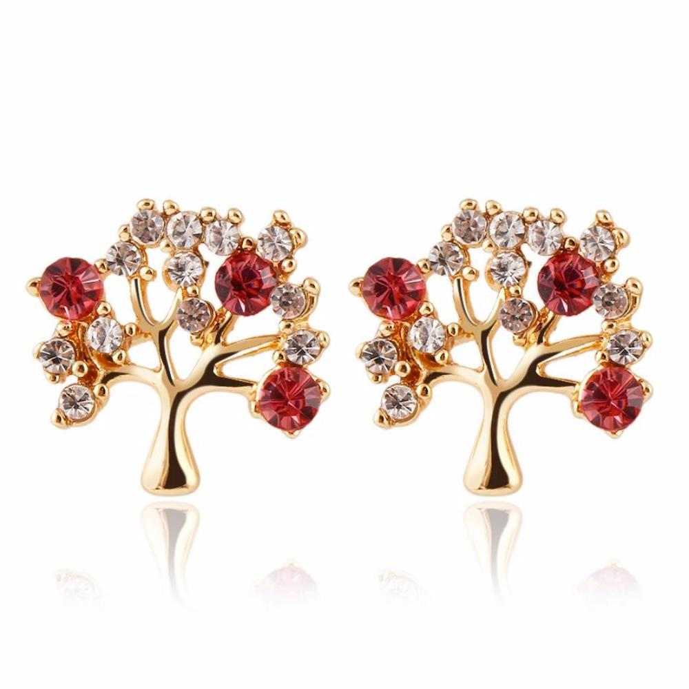 Cherry Red Tree of Life Earrings