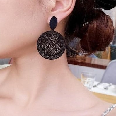 boho black party earrings