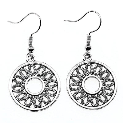 petal pendant drop earrings