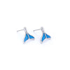 blue ocean tail earrings