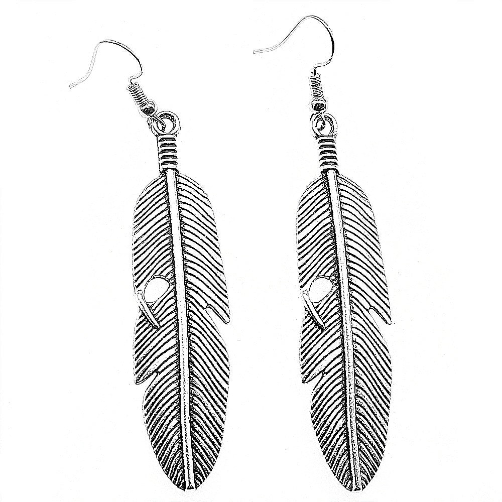Freedom Feather Drop Earrings