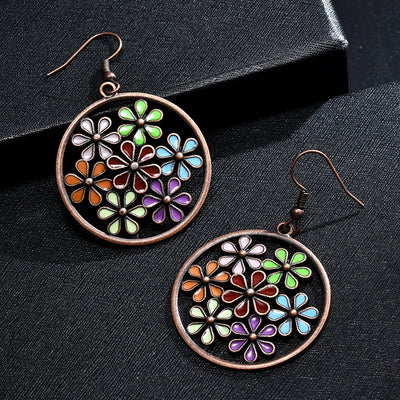spring bouquet hoop earrings