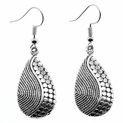 silver seaside earrings