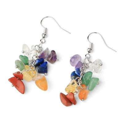 chakra stones drop earrings