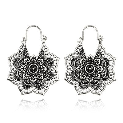 antique mandala earrings