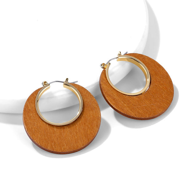 Block Hoop Earrings