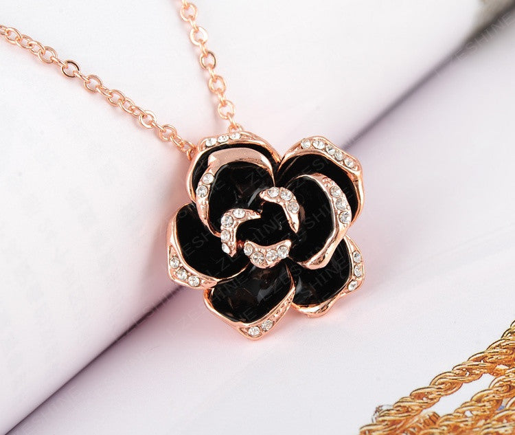 Rosa Crystal Necklace