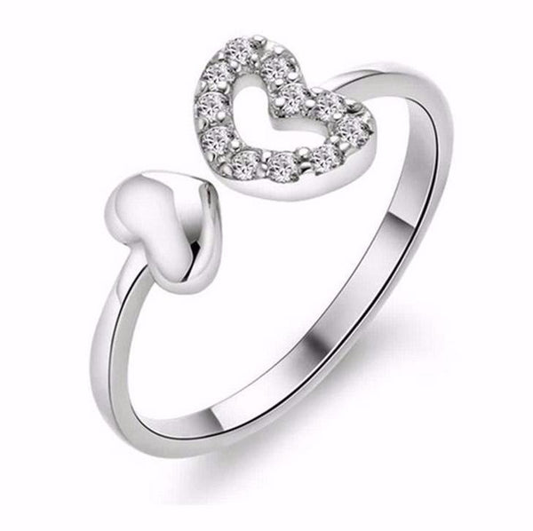 Heart to Heart Ring - Adjustable