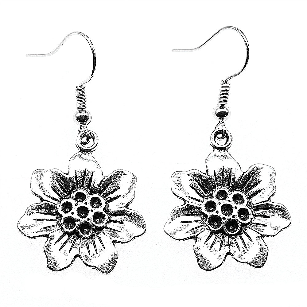 daffodil drop earrings