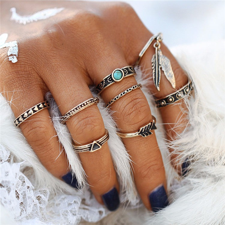 Maia Midi Rings - Set of 8
