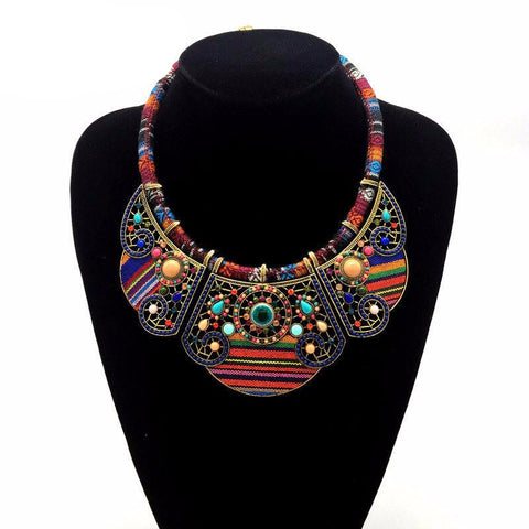 Vivid Bib Statement Necklace