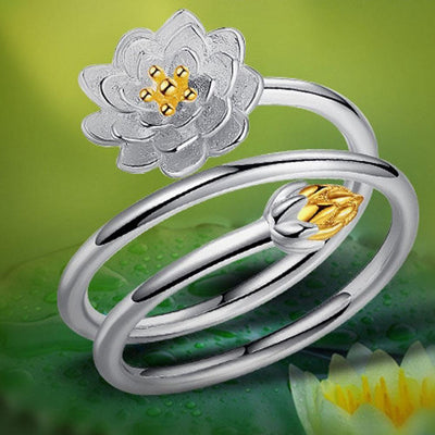 Blossom Spiral Ring - Adjustable
