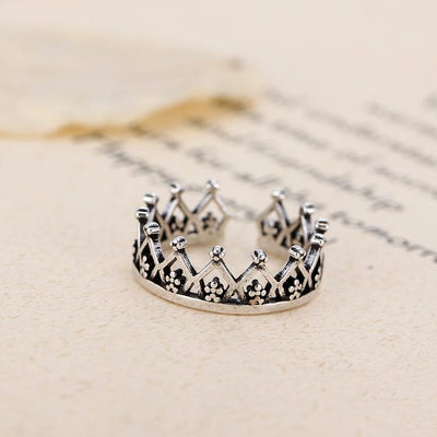 Floral Crown Ring - Adjustable
