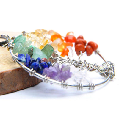 Tree of Life Chakra Stone Necklace