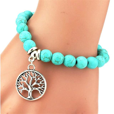 Turquoise Tree of Life Bracelet