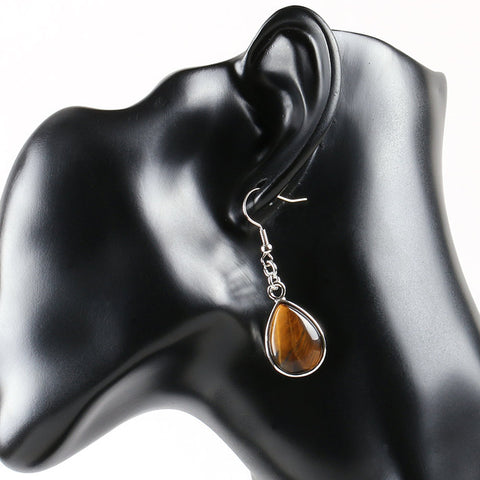 Tigers Eye Droplet Earrings