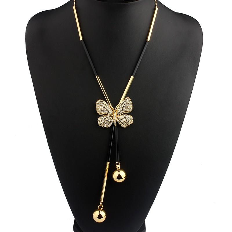 Butterfly pendant drop necklace bohemian jewellery boho box butterfly pendant drop necklace aloadofball Image collections
