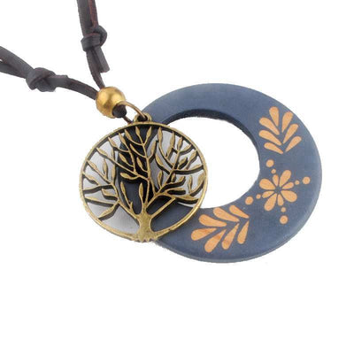 Tree of Life Wooden Pendant
