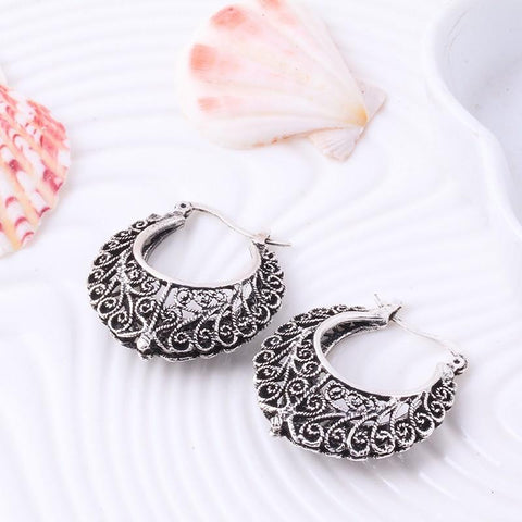 3D Bali Basket Earrings