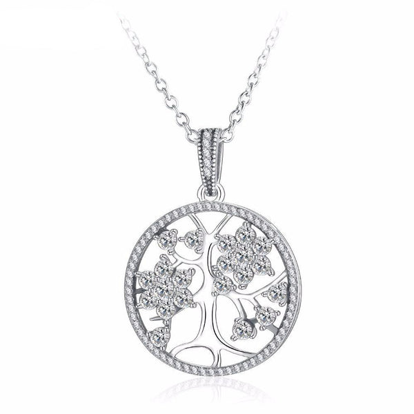 Crystal Blossom Tree of Life Pendant