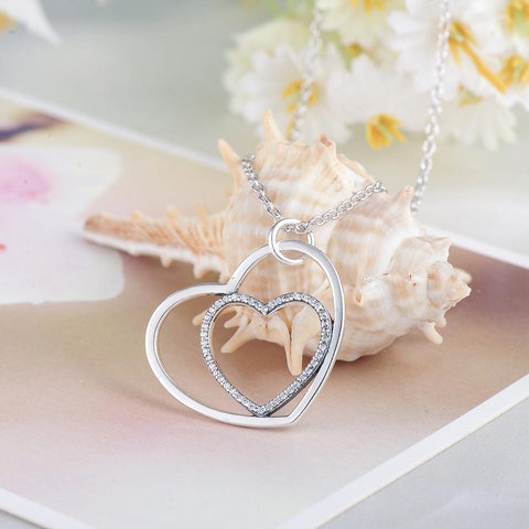 Heart of Hearts Crystal Necklace