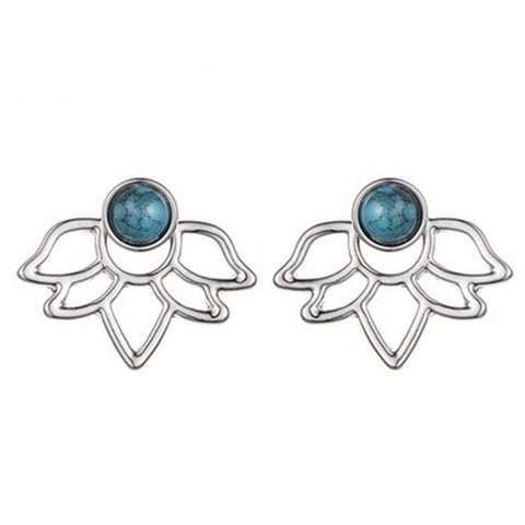 Ocean Drop Lotus Earrings