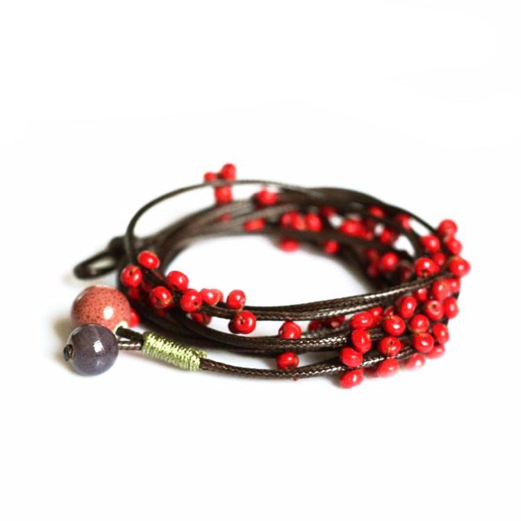 winter berry wrap bracelet