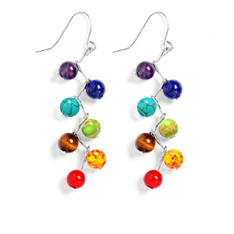 Chakra Bead Drop Earrings