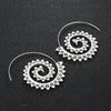 Spiral Boho Hoop Earrings
