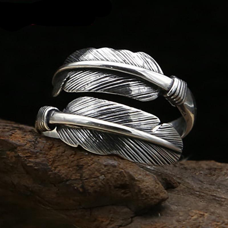 Silver Plume Ring - Adjustable