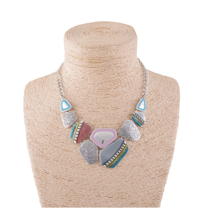 Modern Boho Bib Necklace