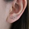 Geometric Climber Earrings