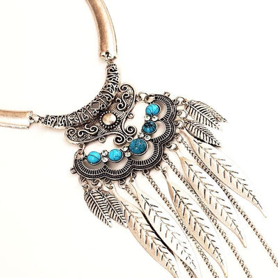 Gypsy Feather Bib Necklace
