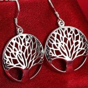 Tree of Life Sterling Silver Drop Earrings
