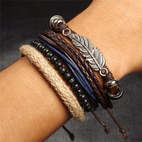 Feather Multi-Layered Bracelet