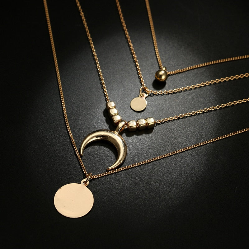 Lunar Layered Necklace