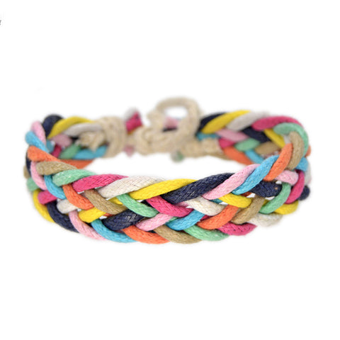 Colourful Braided Boho Bracelet