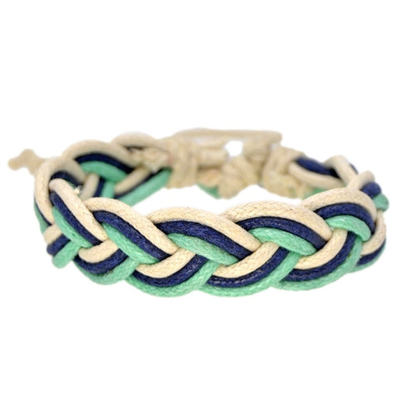 Green Braided Boho Bracelet