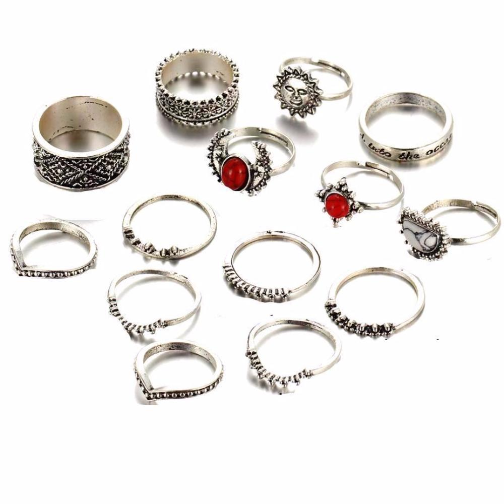 Rising Sun Midi Stacker Rings - Set of 14
