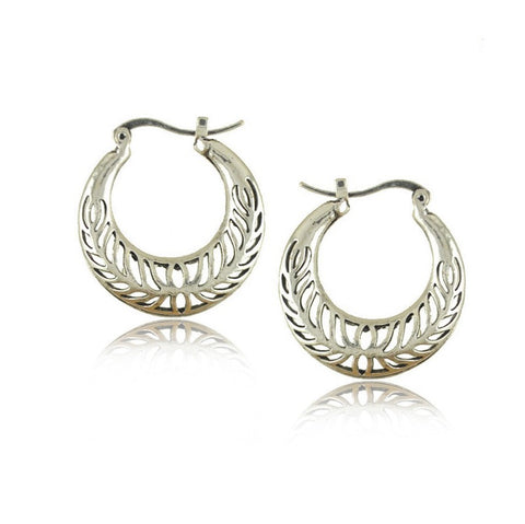 Romantic Bali Hoop Earrings