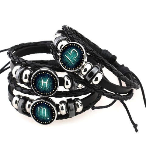 Leather Zodiac Bracelet - All Signs