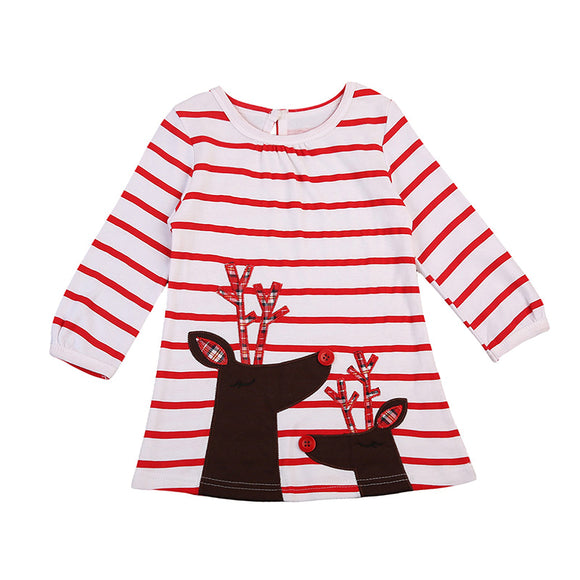 Baby Red Striped Dress