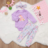 Unicorn Floral Set