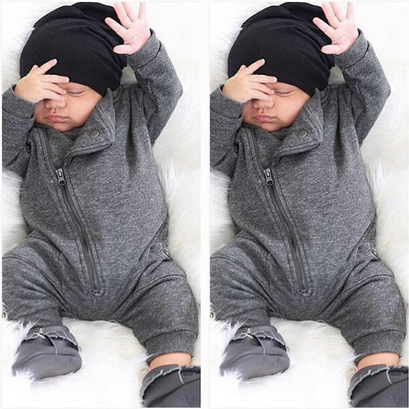 Zip-up Baby Jumpsuit
