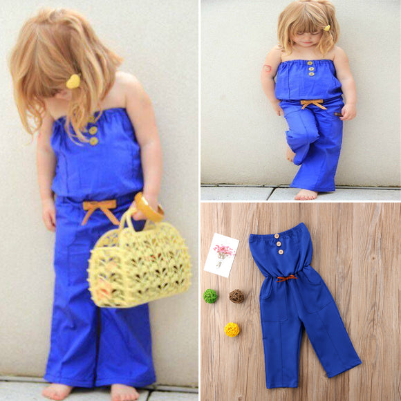 Denim Tube  Rompers