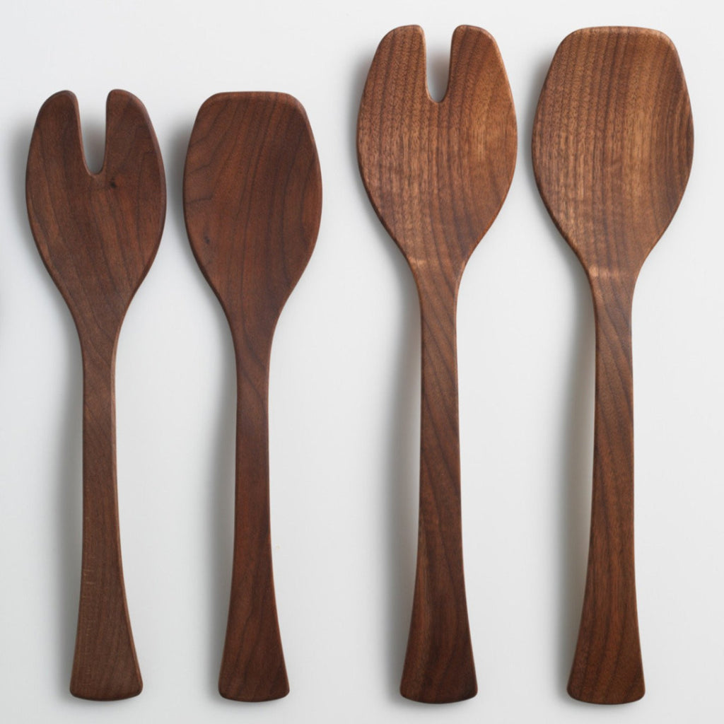 Salad Servers 13' Black Walnut