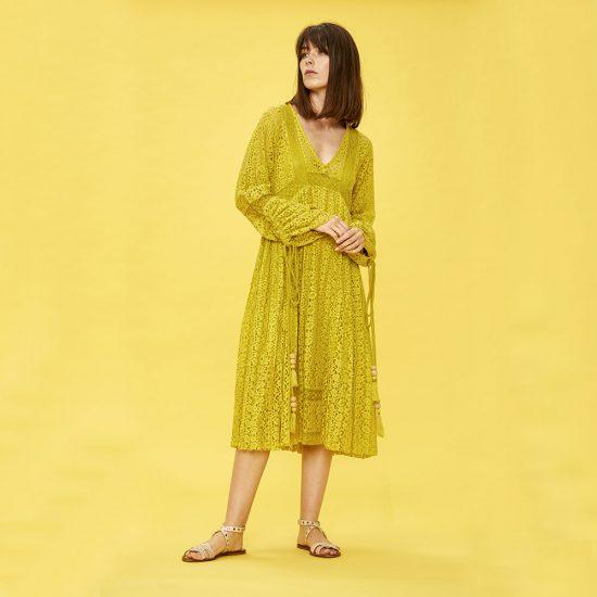 Ochre Lace Dress