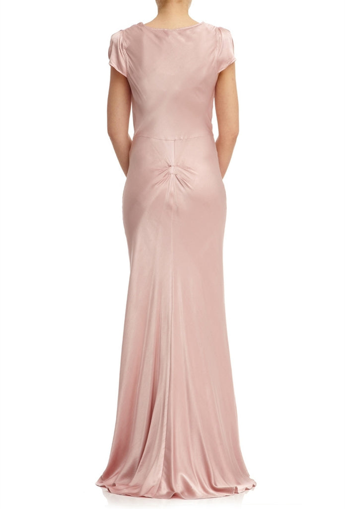 Scoop-neck Gown