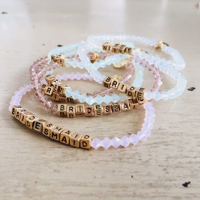 MINT ALABASTER MOH BEADED GOLD