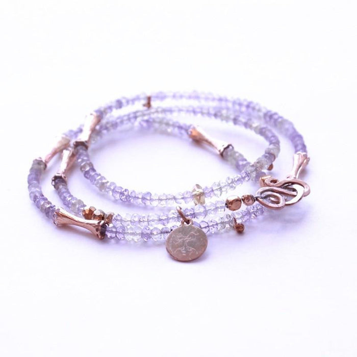 Ametrine Wrap Necklace & Bracelet